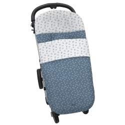 Saco universal silla micro pana castañas azul