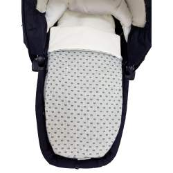 Saco de capazo lana brillos topos gris interior algodón crudo