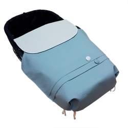 Colcha de capazo napoles azul nude con plumeti nude