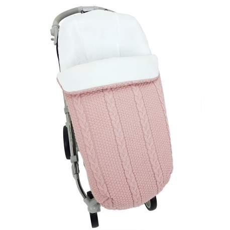 Saco lana ochos rosa nude fuerte. Funda e interior en punto crudo