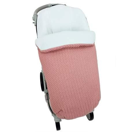 Saco lana rosa nude funda en punto crudo