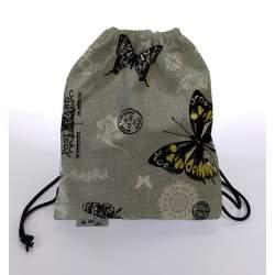 Bolsa Merienda estampada mariposas negras