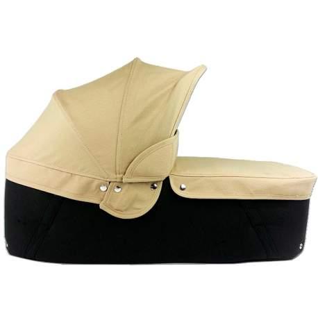 Capazo cuco base negra capota y cubre arena