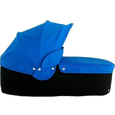 Capazo cuco base negra capota y cubre azul