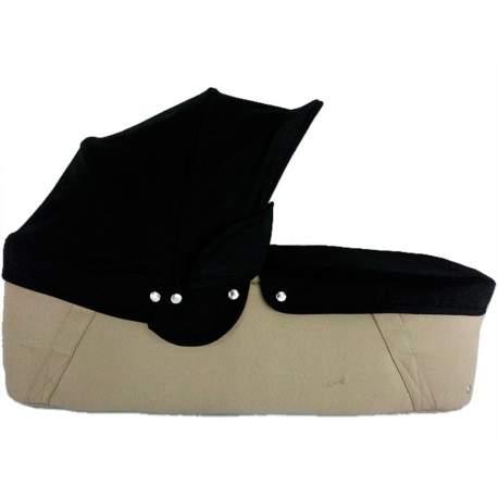 Capazo cuco base arena capota y cubre negro