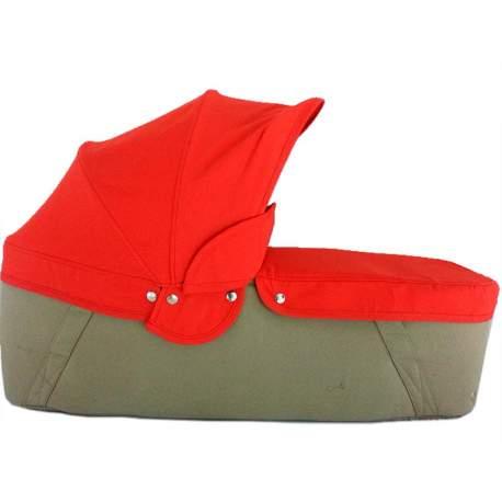 Capazo cuco base arena capota y cubre rojo