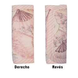 Protectores de arneses abanicos rosa