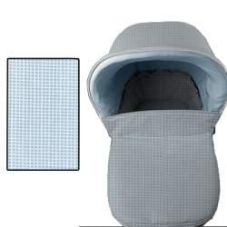 Cubre pies capazo Bebecar ip op anterior al 2013 en tejido nicolas