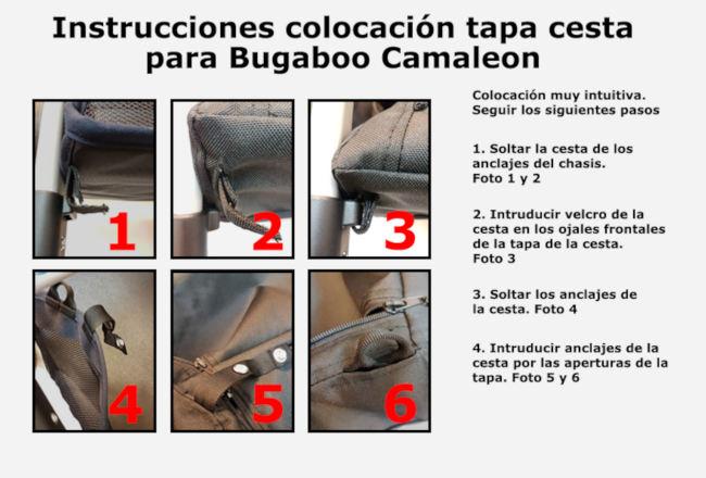 Instrucciones cubre cesta Bugaboo Camaleon